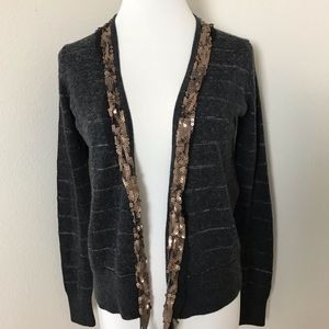 2/$15 Sequin Trim Cardigan Sweater
